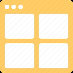 application, split, tile, window icon