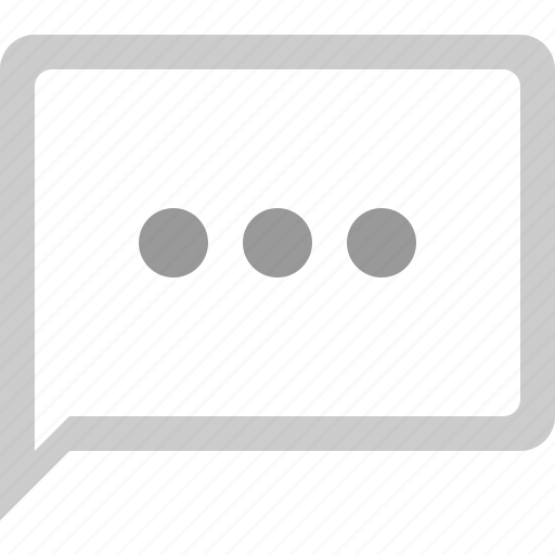 bubble, chat, typing, typing dots icon