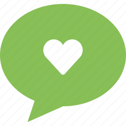bubble, favorite, heart, love message icon