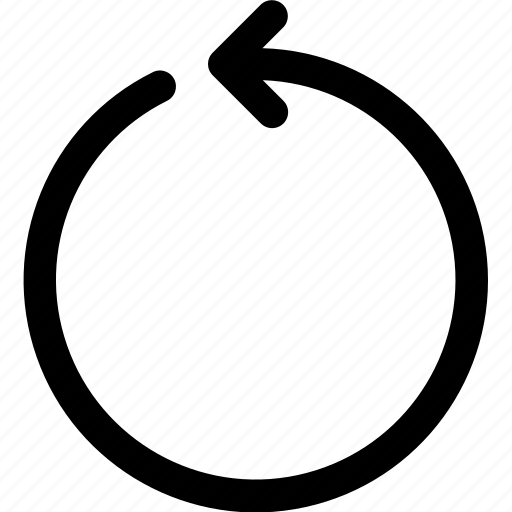 arrow, back, circle, counterclockwise, interface, ui, ux icon