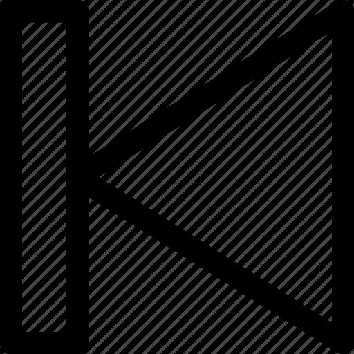 arrow, backward, interface, rewind, start, ui, ux icon