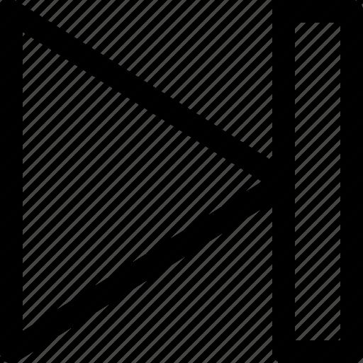 arrow, end, fast forward, interface, ui, ux icon