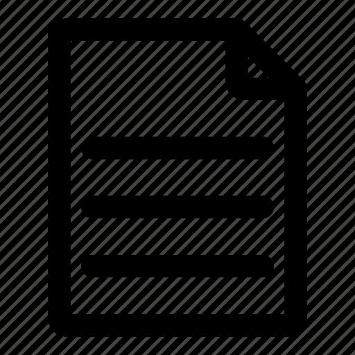 data, document, file, letter, paper icon
