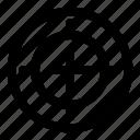 aim, focus, shot, spot, target icon