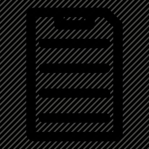 clipboard, data, file, paper, registration icon