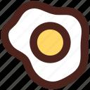 egg, omelet, user interface, fried egg icon