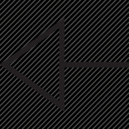 arrow, back, go back, left, return icon