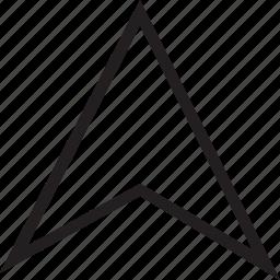 arrow, find, gps, location icon