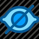eye, hide, interface icon
