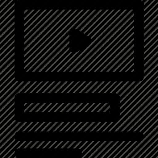 description, internet, title, ux, video, website icon