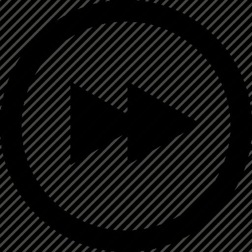 Zoom, fast, quickly, forward, go, quick, fastforward icon - Download