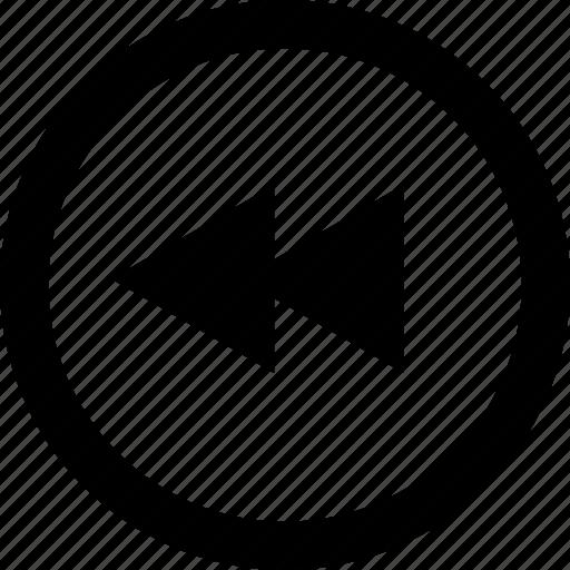 Back, backpedal, go back, history, revert, rewind, rewinding icon - Download on Iconfinder