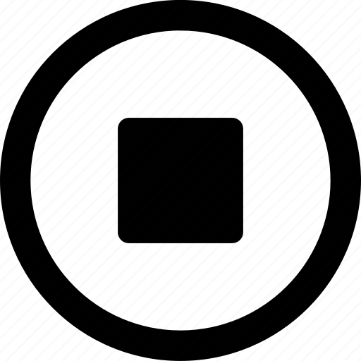 Circled, halt, pause, square, stop icon - Download on Iconfinder