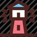 marine, sea tower, user interface, lighthouse icon