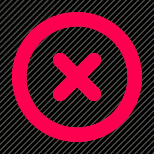 cancel, delete, interface, user icon