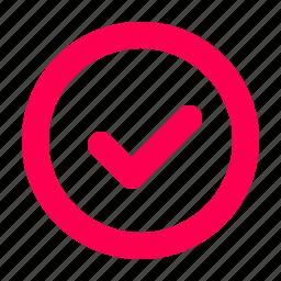 accept, correct, interface, user icon