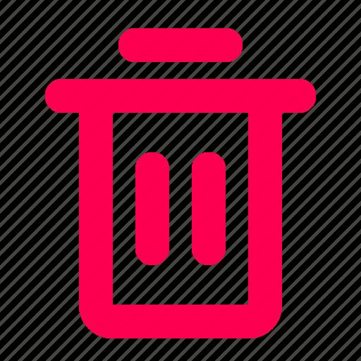 can, delete, interface, trash, user icon