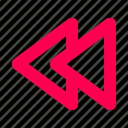 backwards, interface, music, user icon
