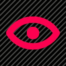 eye, interface, user, visualization icon