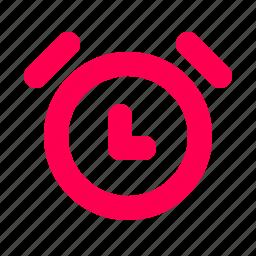 alarm, clock, interface, time, user icon
