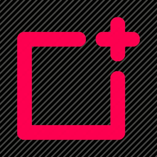 add, interface, photo, plus, square, user icon