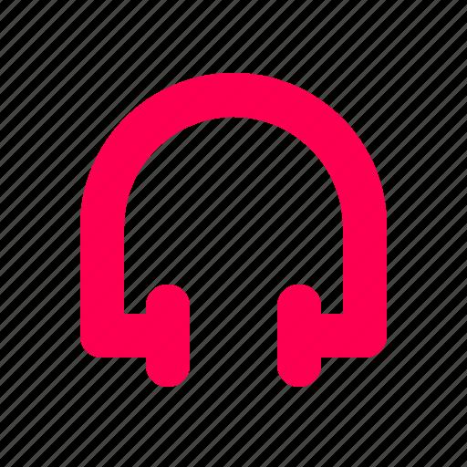 headphones, interface, music, sound, user icon