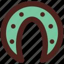 luck, user interface, horseshoe icon
