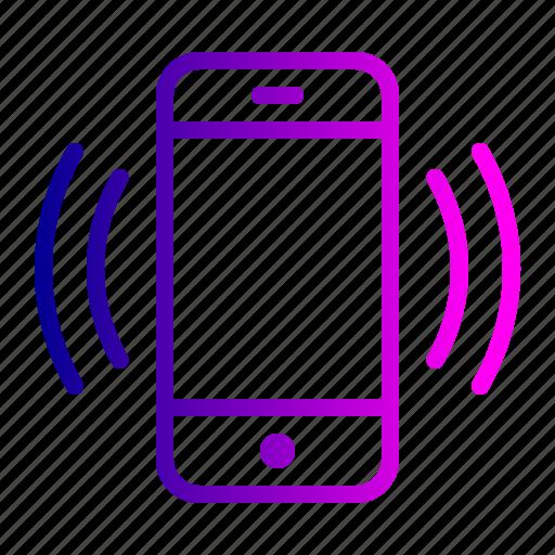 device, mobile, technology, vibrate, vibration icon