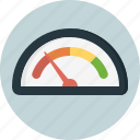 analog, dashboard, dial, gauge, instrument panel, measure, speed test icon