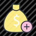 bag, commerce, dollar, money icon icon