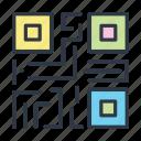 code, internet, online, qr icon icon