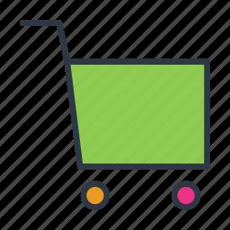 cart, commerce, shopping icon icon