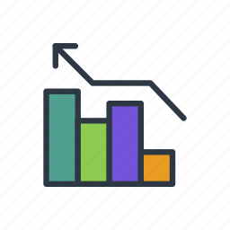 bars, business, chart icon icon