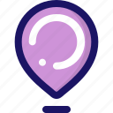 direction, gps, location, map, navigation, pin icon
