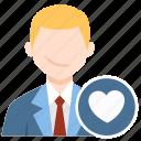 favourite, heart, love, user icon