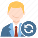 profile, refresh, reload, user icon