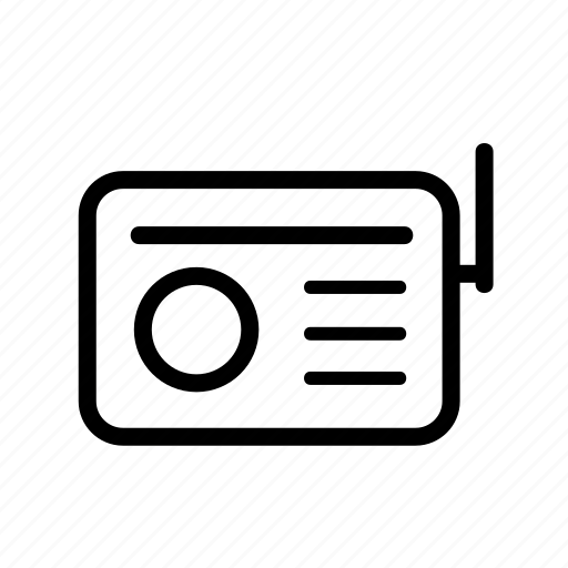communication, media, multimedia, music, news, radio icon