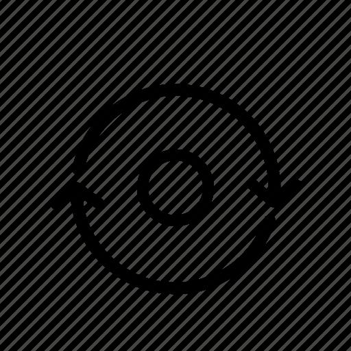 backup, default, factory reset, reset, restart, restore, sync icon