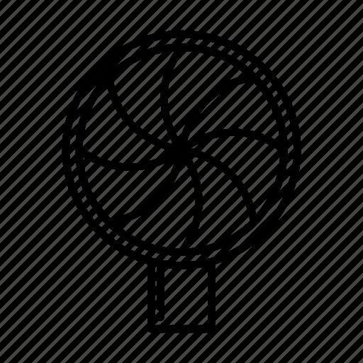 energy, fan, push, wind icon