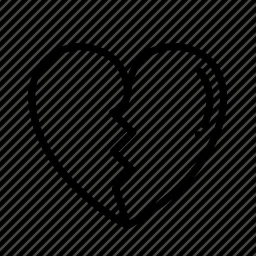 broken, heart, love, passion icon
