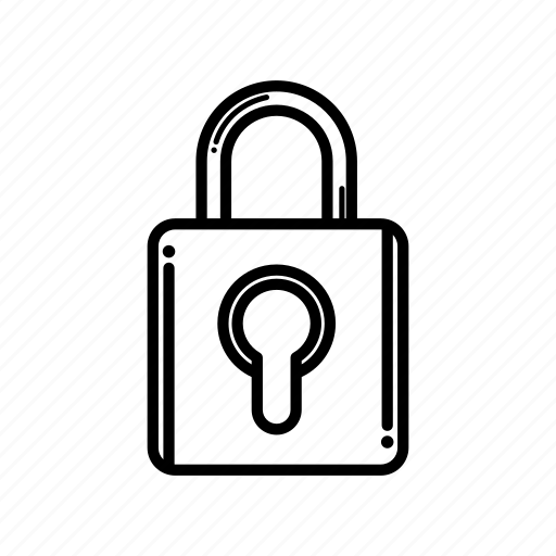 caution, padlock, protect, security icon