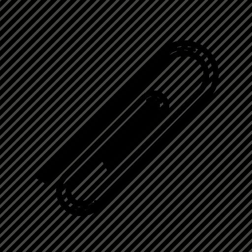 attach, connect, file, paperclip icon
