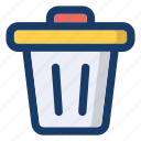backet, bin, rubbish, trash, waste icon