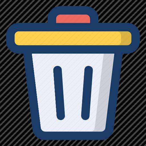 backet, bin, rubbish, trash, waste icon
