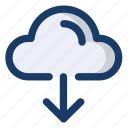 cloud, data, download, info, upload icon