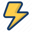 hurricane, light, lightning, storm, weather icon