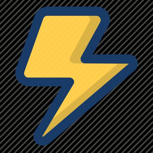 hurricane, light, lightning, storm, weather icon