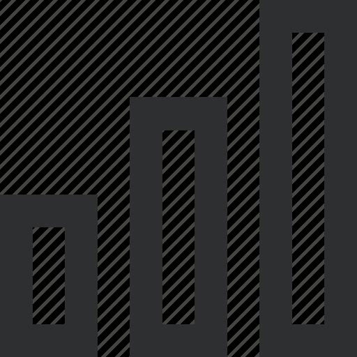 bar, chart, data, diagram, down, pie, up icon