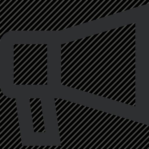 broadcast, marketing, megaphone, seaker icon