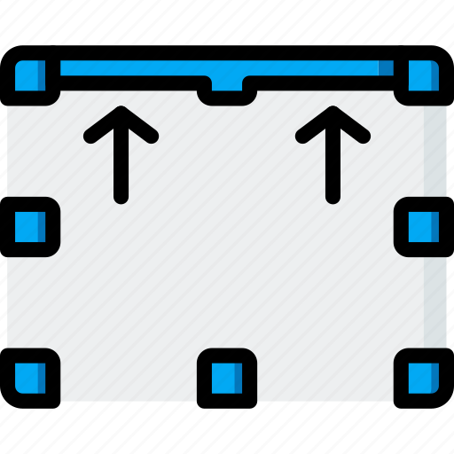 border, drawing, graphical, gui, tools, top bottom, ui icon